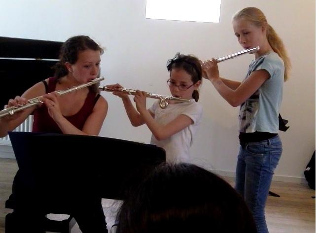 Dwarsfluitles Amsterdam Jonge Kinderen Leerlingenuitvoering