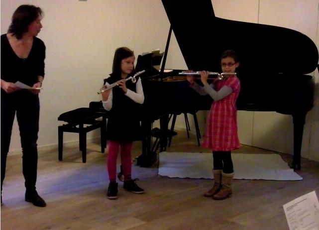 Dwarsfluitles Amsterdam Kinderen Leerlingenuitvoering